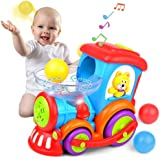 Kidpal Baby Toy, Ball Popping Musical Toy Train for Boy Girl Age 1 2 3 with Light, Music, Chase and 3 Popper Balls…