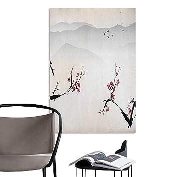 Brandosn Mural De Pared Pegatinas Asiaticas Japonesas Flores Cerezo