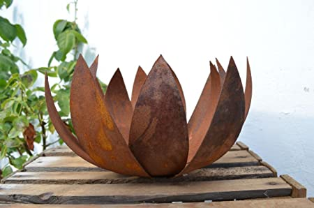 Hkt Home Deco Blume Blute Metall Rost Edelrost Windlicht Ubertopf
