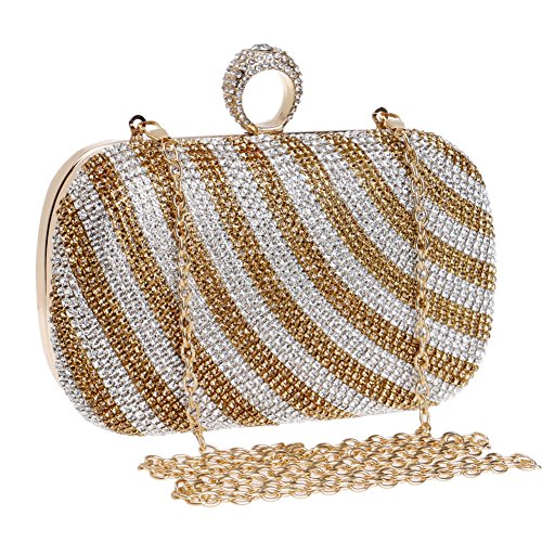 For Party Purse Evening Wedding Crystal Women's Evening Bag Bridal Bag Bridal Prom Diamond B Wedding 0a4qx1R