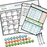 """Magnetic Dry Erase Calendar for Refrigerator 