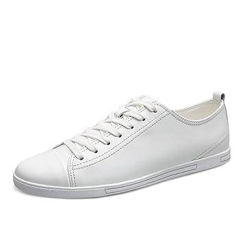 Toptak Zapatillas Bajas De Cuero Para Hombres Clásicas Blancas Zapatillas Deportivas De Gimnasia: Amazon.es: Deportes y aire libre