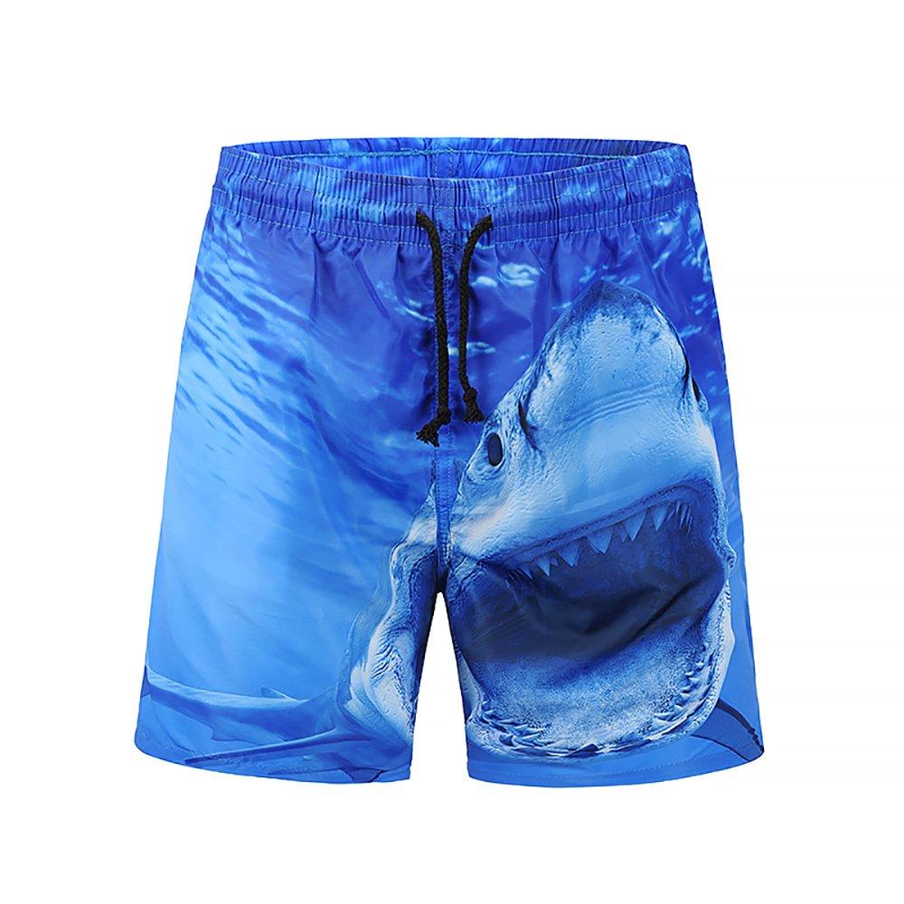 Zegoo Men's Quick 3D Printing Dry Lightweight Beach Shorts fashion-swim-briefs