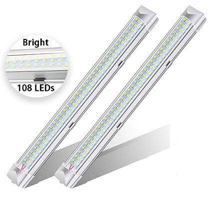 Amazon.com: Car Interior Led Light Bar, 12V LED Strip Lights 108 LEDs Bar  Lamp With On/Off Switch For Car Camper Van Bus Caravan Boat Motorhome  Kitchen ...