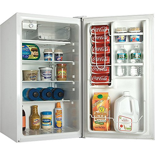 Commercial Cool CCR40W Compact Single Door Refrigerator and Freezer, 4.0 Cu. Ft. Mini Fridge, White