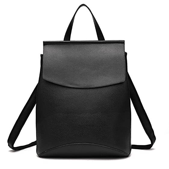 Amazon.com: LCFUN Cute Leather Backpack Travel Rucksack Small ...