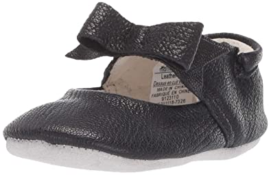 9bd8783b1f1 Robeez Girls  Ankle Strap Mary Jane First Kicks Crib Shoe Sofia Black 3-6