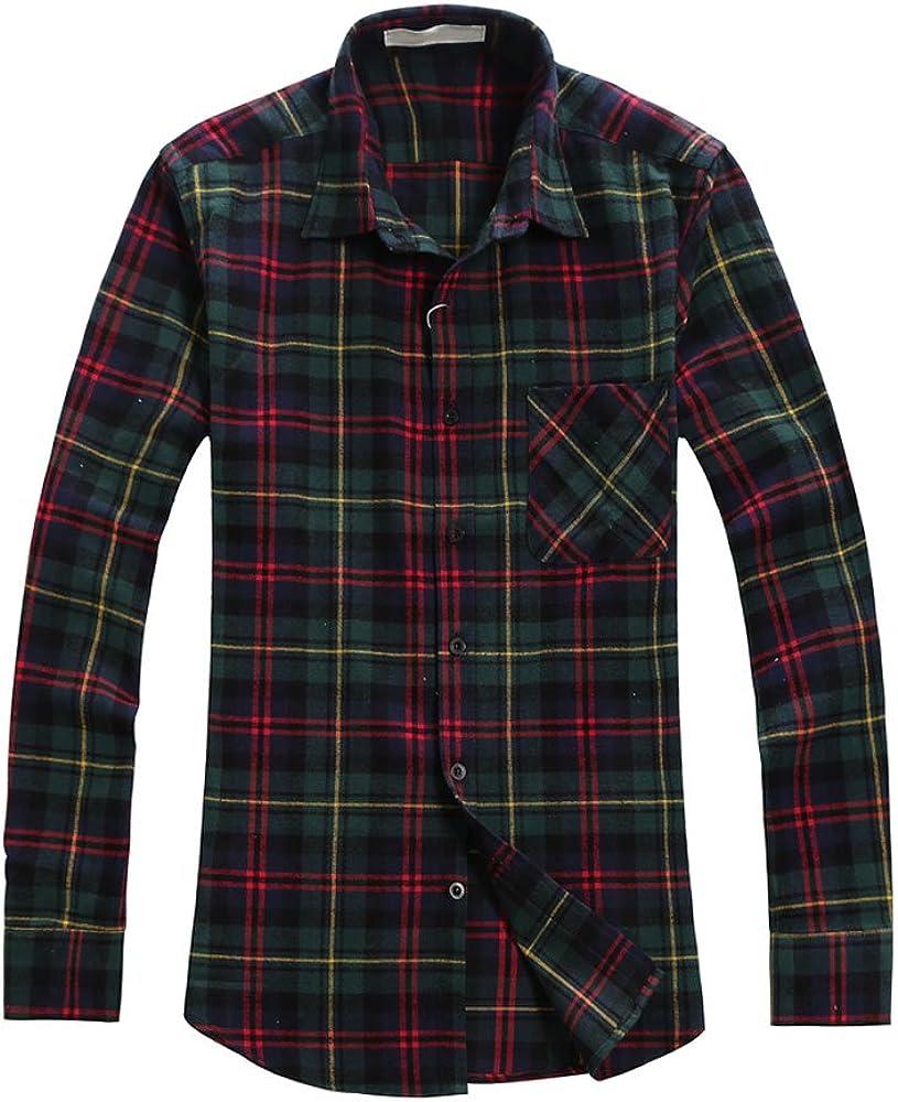 OCHENTA - Camisa casual - Chaqueta - con botones - Manga larga - para hombre: Amazon.es: Ropa y accesorios