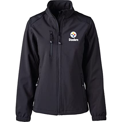 839c612cc Image Unavailable. Image not available for. Color  Dunbrooke Apparel NFL  Pittsburgh Steelers Women s Softshell Jacket ...