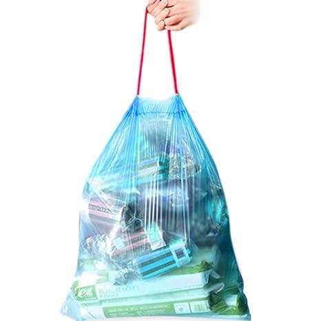 Amazon.com: Plástico Basura bagsl cordón bolsas de basura de ...