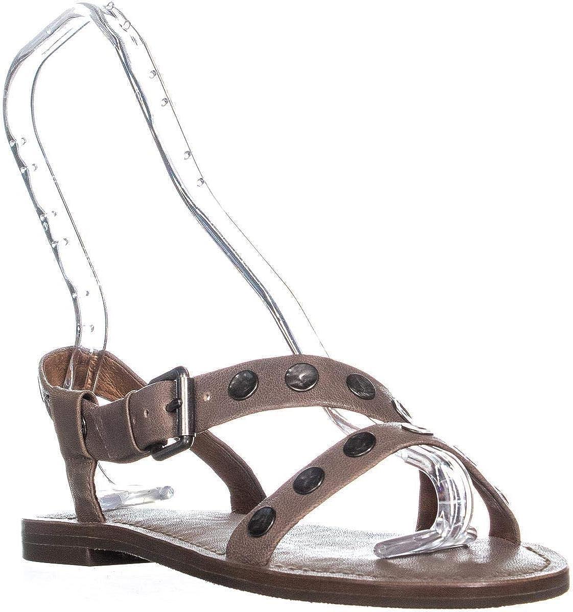 Frye Morgan Hammered Stud Flat Sandals