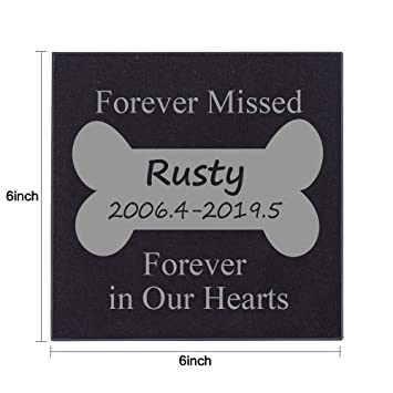 Somiss Granite Pet Memorial Stones Personalized Pet Grave Markers Headstones For Dogs Or Cats Pet Memorial Gifts