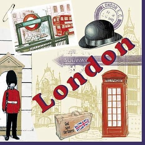 20 Servietten London Englische Eindrücke Städte Länder