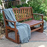 Home Garden Patio Alpine 4 ft. Seats 2 Outdoor Loveseat Glider