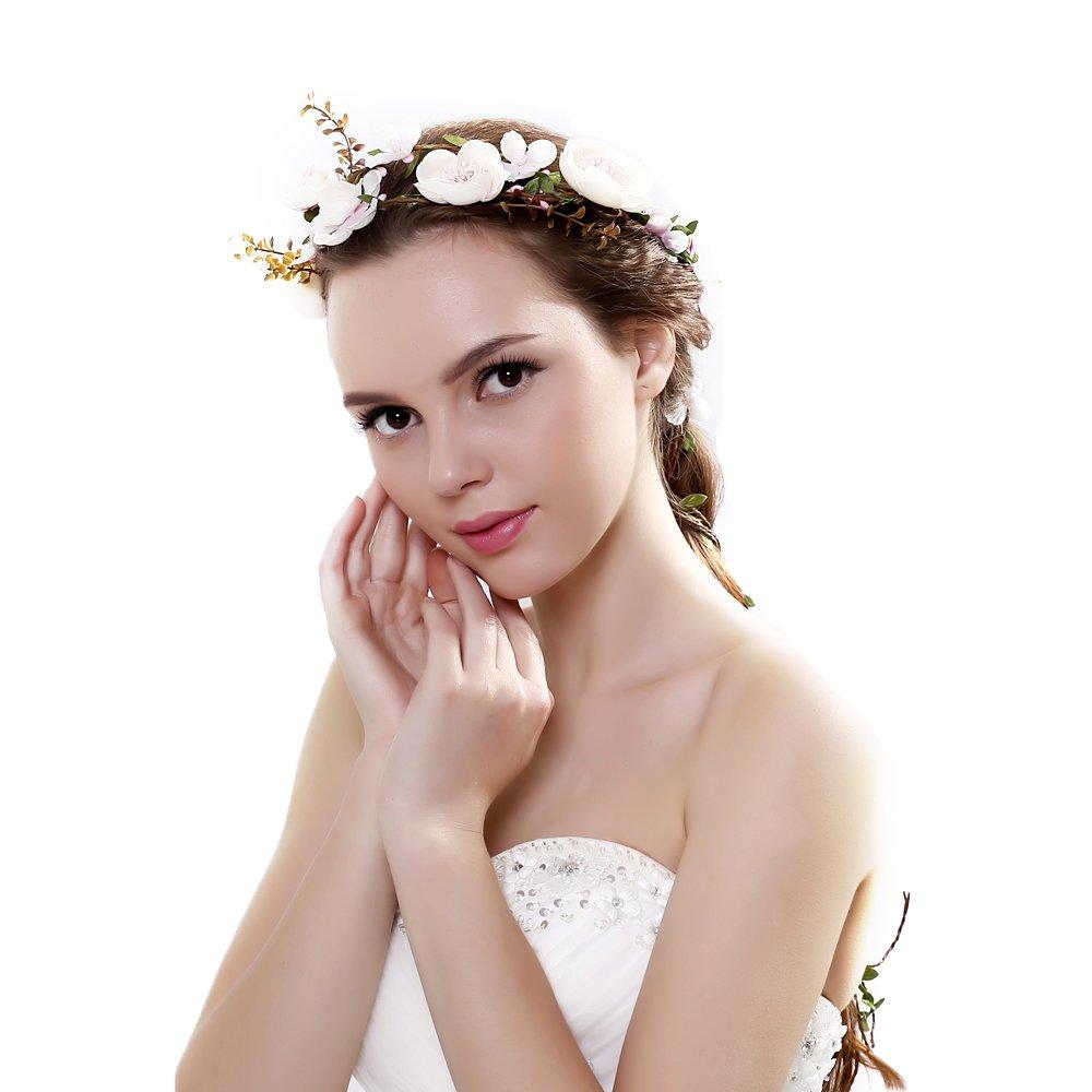 Ever Fairy® Artificial Vine FLower Crown Headband Tiaras Necklace Belt Party Decoration for Wedding Festival