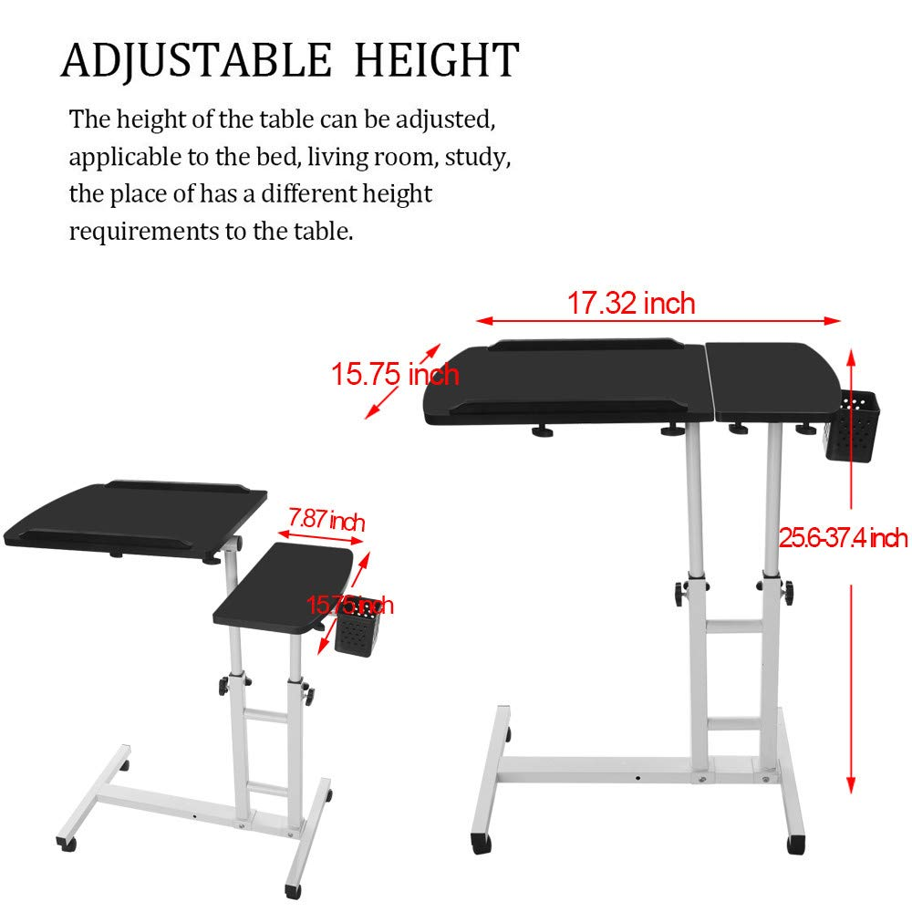 FengGa Computer Desk for Small Space/Writing Desk/Compact Desk/Foldable Desk.Household Can Be Lifted and Folded Folding Mobile Small Working Desks Home Computer (Black, 17.32inch×15.75inch.) by FengGa 3C (Image #7)
