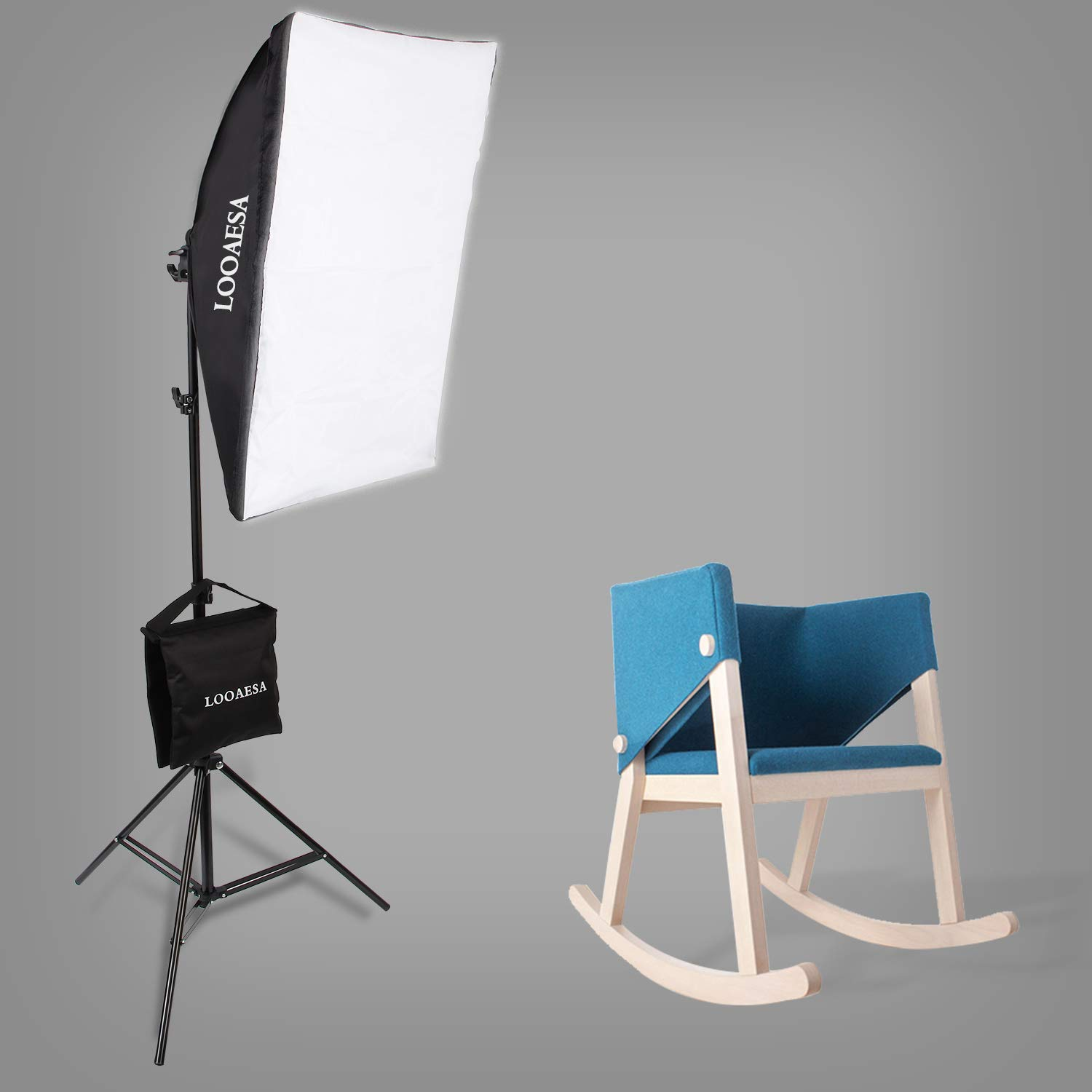 1350W Photography Lighting Softbox Lighting Kit Continuous Photo Video Lighting System with Sandbag and 5500K Bulb 20''X28'' Professional Studio Lights Equipment for Youtube Filming Portraits by LOOAESA by LOOAESA (Image #5)