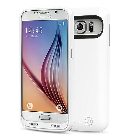 MoKo 3500mAh Protector Recargable Backup External Batería Cargador Funda para Samsung Galaxy S6 5.1 Pulgadas, BLANCO (NO APTA PARA EL Samsung Galaxy ...