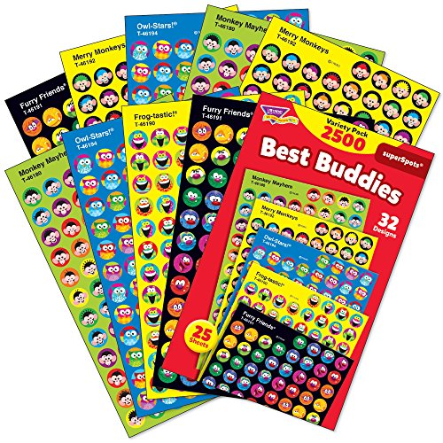 TREND enterprises, Inc. Best Buddies Collection superSpots Variety Pack, 2500 (Best Friends Collection)