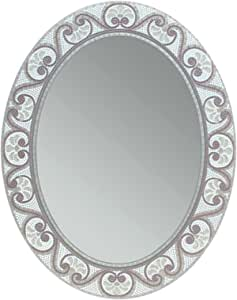 Head West Earthtone Mosaic Oval Mirror, 23 by 29-Inch