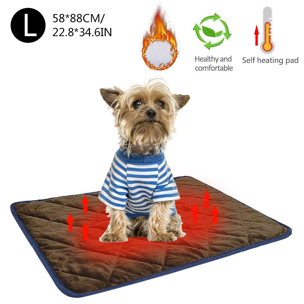 Pets Self Heating Pads Warm Blanket Mat Cat Dog Bed Thermal Mat for Sofas Floors Pet Beds