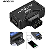 Andoer® D-Tap (P-Tap) to USB Adapter Connector 5V for V-mount Camera Battery for Charger for BMCC Smartphone Monitor