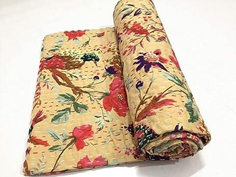 Amazon.com: AMERCRAFTBAZAAR - Colcha de Kantha para cama de ...