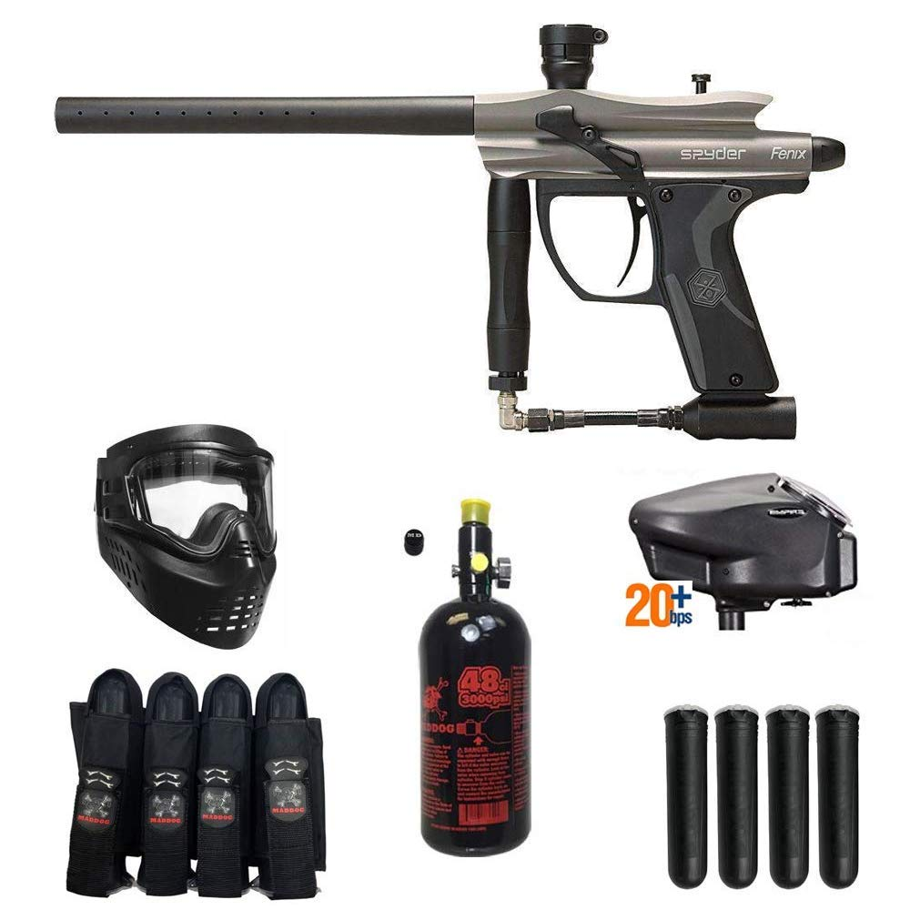 MAddog Spyder Fenix Expert Paintball Gun Package - Silver/Grey by MAddog