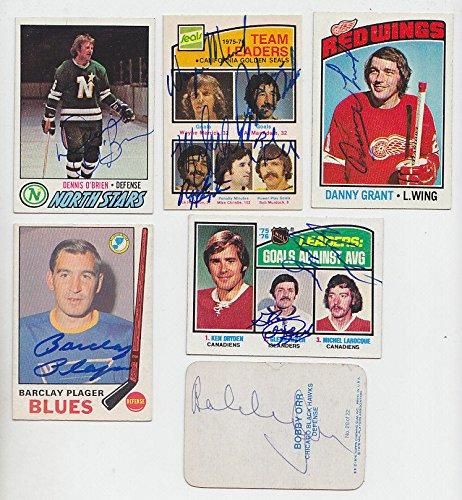 1976-77 TOPPS SIGNED GLOSSY INSERT CARD BOBBY ORR CHICAGO BLACKHAWKS BRUINS # 20 ()