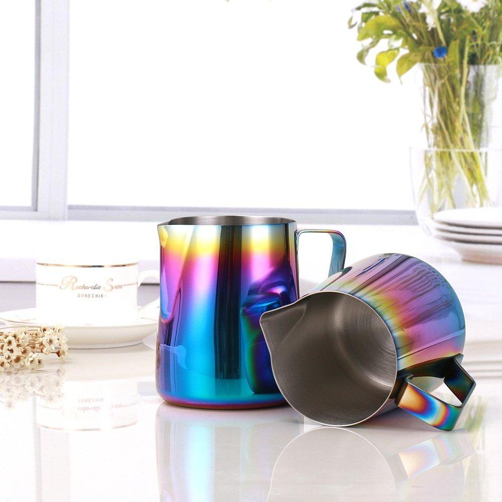 Rainbow Colorful Edelstahl Espresso Milch aufsch/äumen Krug