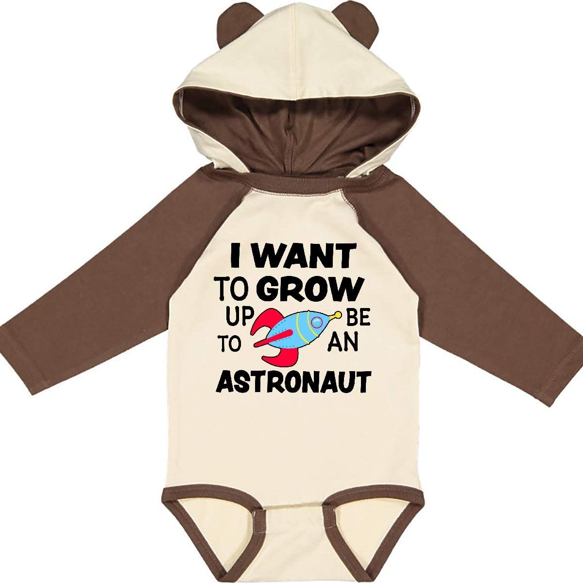 inktastic I Want to Grow Up to Be an Astronaut Long Sleeve Creeper