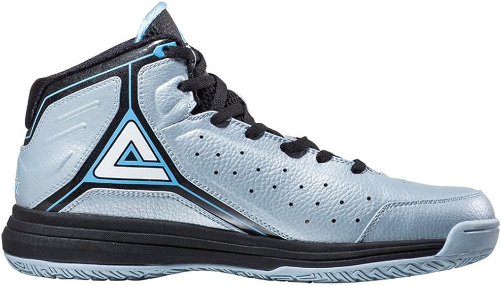 e6eb1e51a1990 Peak Men's Classic Professional Basketball Shoes Metallic Blue Size ...