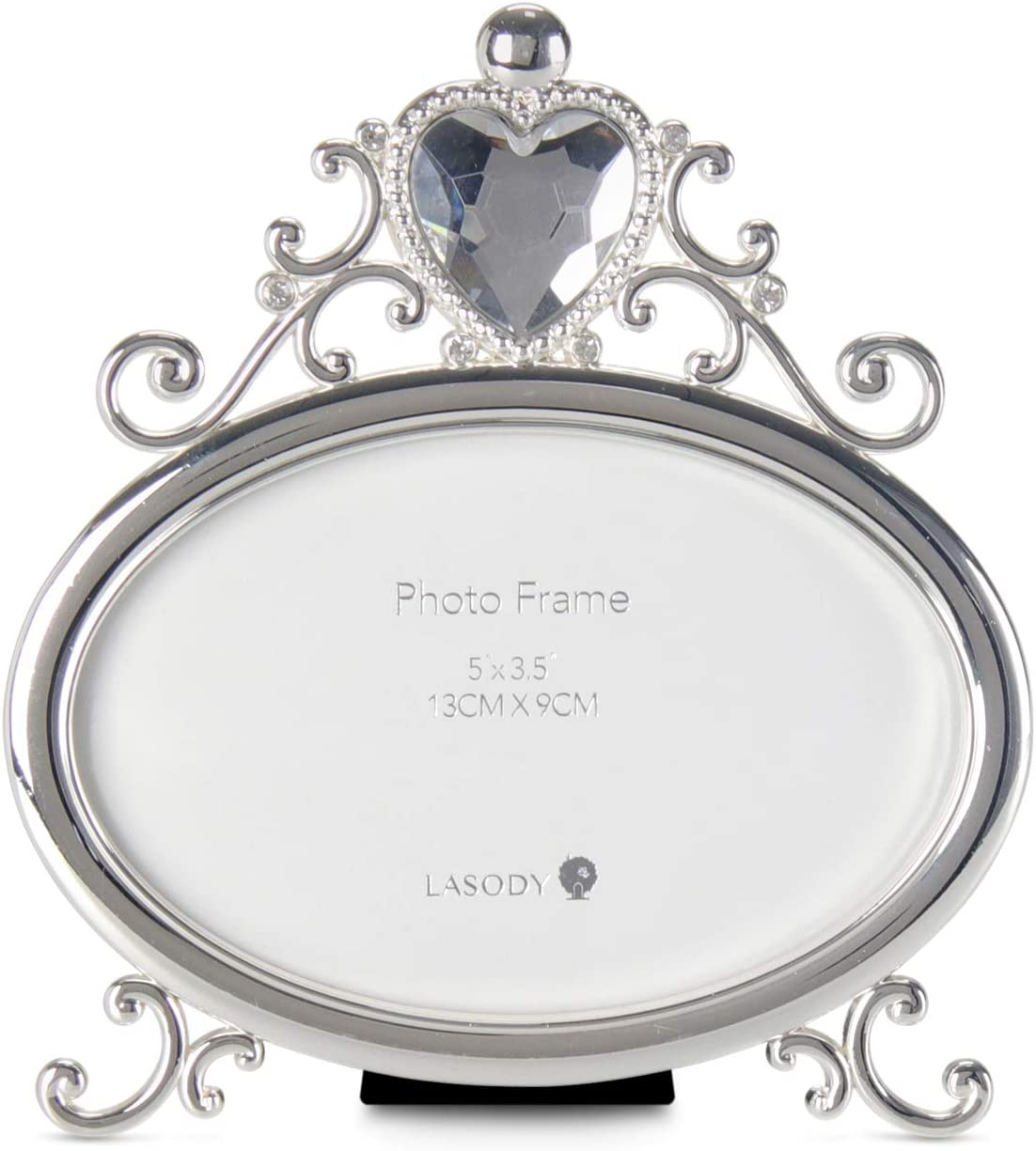 Silver Plated Baroque style photo frame with easel 3 12 x 5 or 9 cm x 13 cm Gift