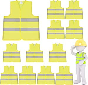 10 Pack High Visibility Safety Vest for Traffic Work Giveaway