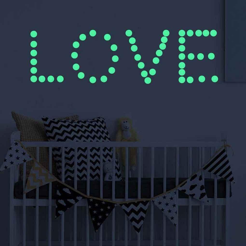 LUFA 407 PCS Glow In The Dark Star Round Dot Adesivi murali luminosi Decorazioni per soffitti domestici