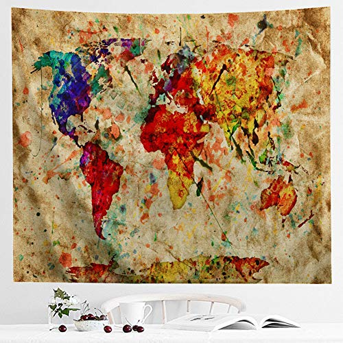 IcosaMro Tapestry Colorful Watercolor Double Folded product image