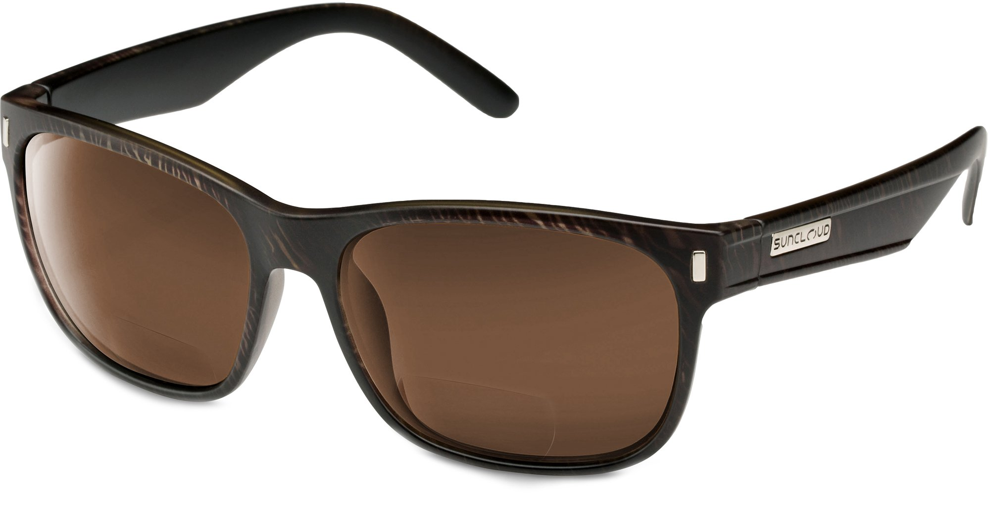 Suncloud Dashboard Polarized Bi-Focal Reading Sunglasses in Blackened Tortoise with Brown Lens +2.75