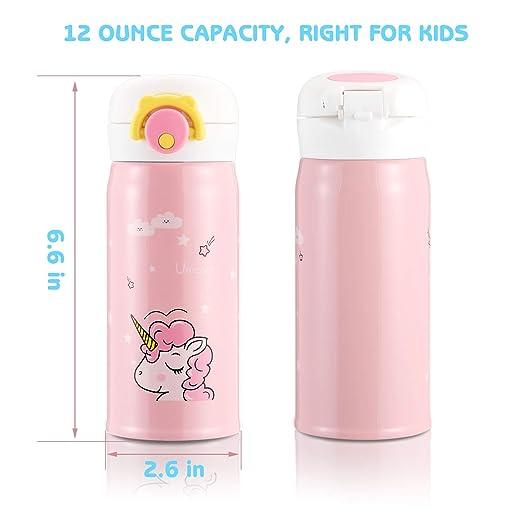 Unicornio Botella de Agua, Botella Para Niños Sin BPA Acero ...