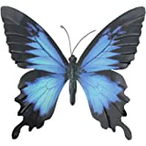 Large Metal Butterfly Blue and Black Outdoor Garden Home Decoration Wall Art by Primus