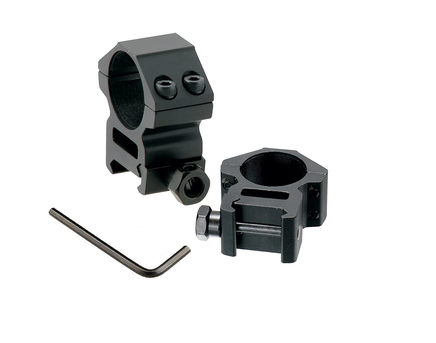 GS33 SYSTEM Picatinny/Weaver Medium Profile 2-piece 1-inch Rings(Including a wrench) by GS33 System