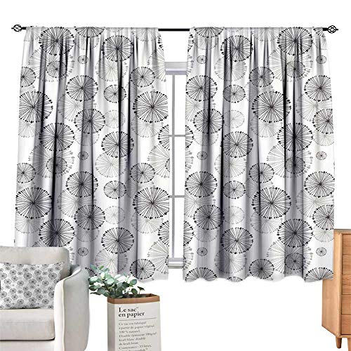 - Unprecall Abstract Bedroom Curtains Dandelion Concept Blowball Flower Silhouette Nature Inspirations Vintage DesignDried Rose Drapes Panels W108 x L72