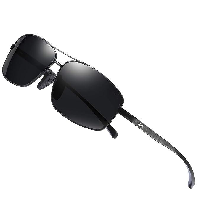 Amazon.com: Gafas de sol LEIMI polarizadas con protección UV ...