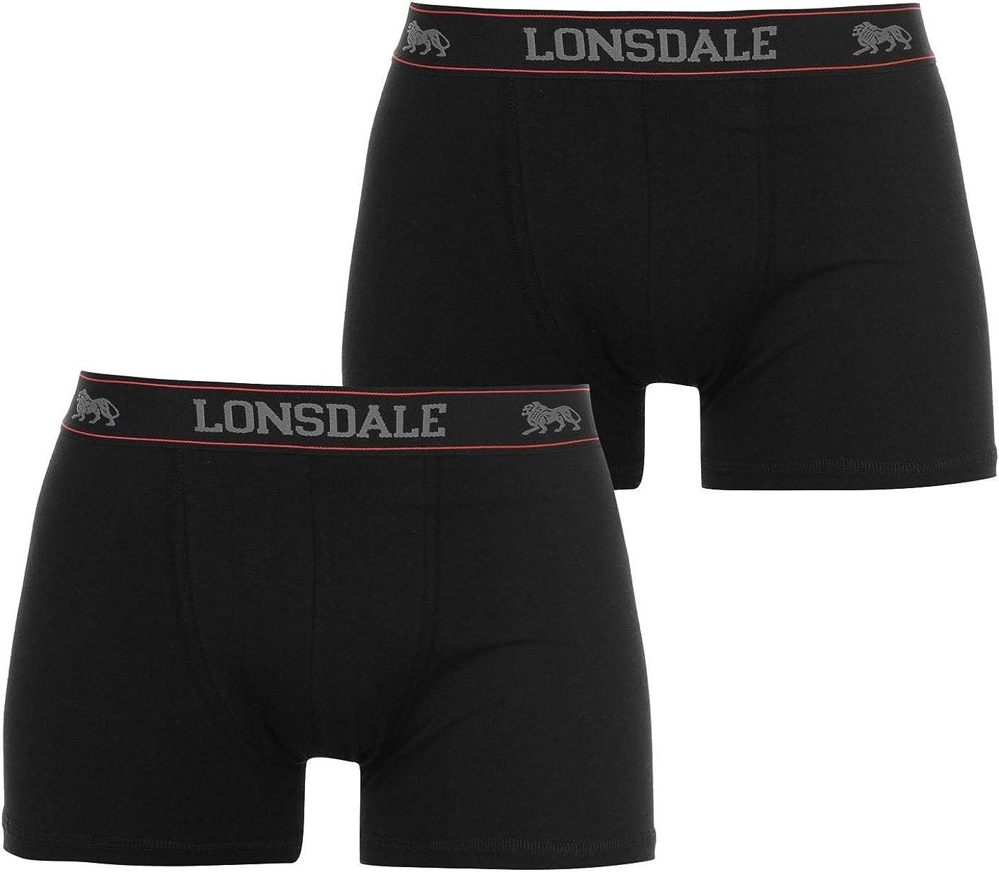 Lonsdale 2/pares de b/óxers para Hombre Pantalones Cortos Calzoncillos Ropa Interior