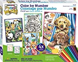 Dimensions Needlecrafts 91337 Pencil by Number, Friendly Animals Variety Pack