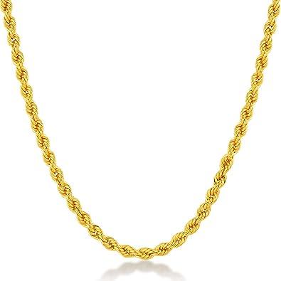 cf3f55798f8f Collar 14 quilates 585 oro amarillo cordón cadena oro con anillo de muelle  cierre - Ancho 2 mm - 2.5 gr - Longitud 45 cm