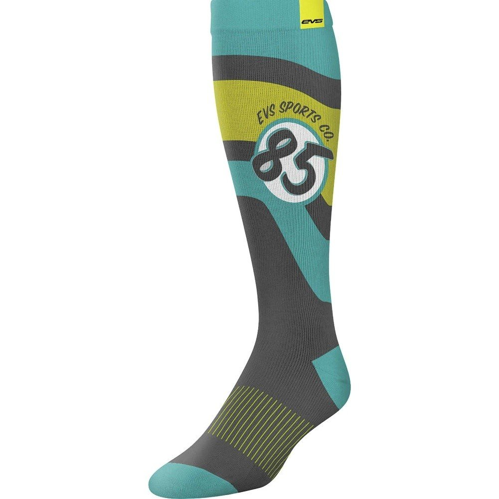 EVS Sports  unisex-adult Moto Sock - Cosmic (Tiffany Blue, Small), 1 Pack by EVS Sports (Image #1)