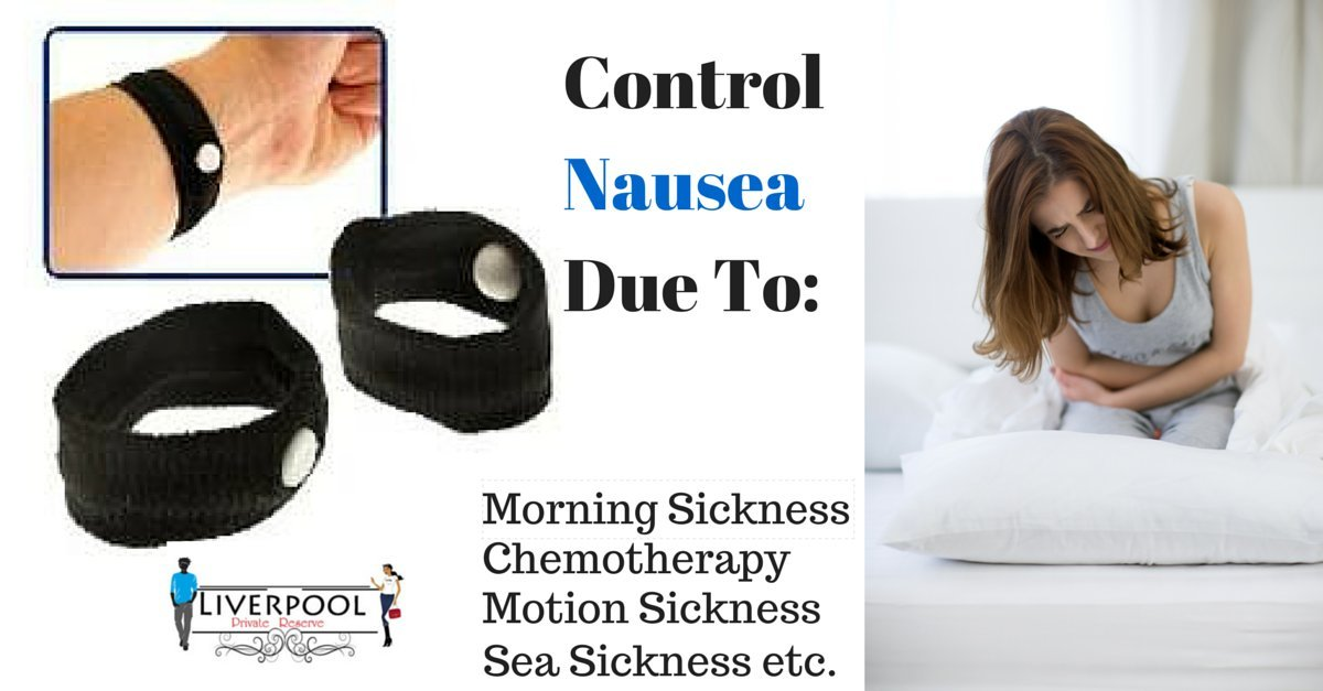 Pair of Acupressure Anti-nausea Motion Sickness Relief Wristbands (Black) ★ Great for Controlling Nausea Due to Morning Sickness, Motion Sickness or Chemotherapy ★ 8 Colors ★ Nausea Relief Bracelet by Liverpool Private Reserve (Image #3)
