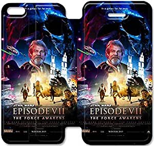 iPhone 5c funda, Flip funda para iPhone 5c, [Star Wars] de primera calidad Flip PU ??cuero funda para iPhone 5c [DDUIPH3459546]