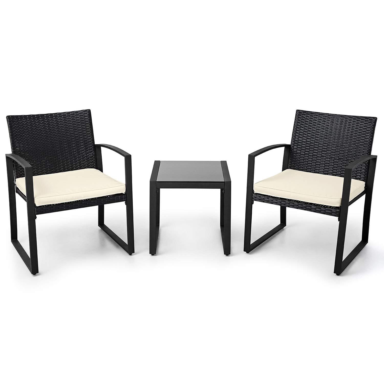 Amazon Com Lahaina Balcony Furniture Patio Set 3 Piece Wicker