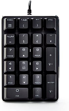 30% de descuento Mecánico Retroiluminado Teclado numérico 21 teclas color blanco Mini juegos Numpad con Cherry azul para iMac/MacBook - negro ...